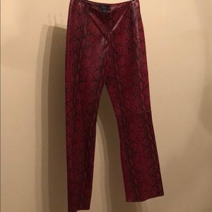 top-rated latest buy best arriving Vintage snakeskin leather red pants